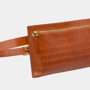 Удобная оранжевая женская сумка на пояс ATS-2960 213814