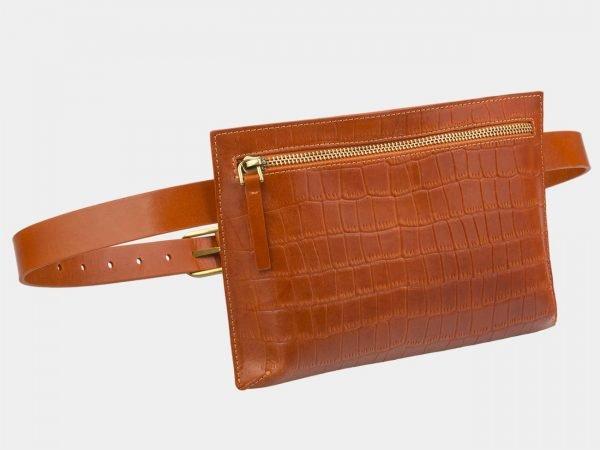 Модная оранжевая женская сумка на пояс ATS-2960