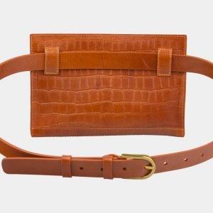Удобная оранжевая женская сумка на пояс ATS-2960 213815