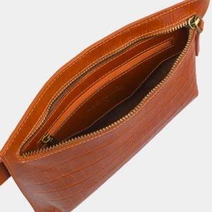Удобная оранжевая женская сумка на пояс ATS-2960 213816
