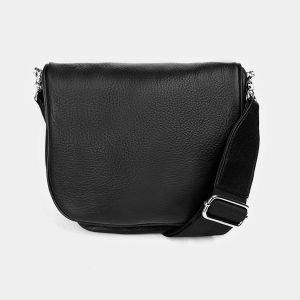 Вместительная черная женская сумка на пояс ATS-3371 212689
