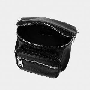Вместительная черная женская сумка на пояс ATS-3371 212690