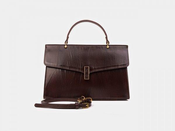 Стильная коричневая женская сумка ATS-3566