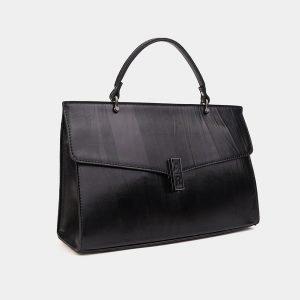 Кожаная черная женская сумка ATS-3567 212040