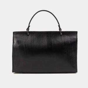 Кожаная черная женская сумка ATS-3567 212041