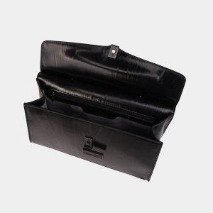 Кожаная черная женская сумка ATS-3567 212042