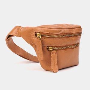 Вместительная бежевая женская сумка на пояс ATS-3571 212025