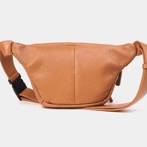 Вместительная бежевая женская сумка на пояс ATS-3571 212026