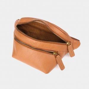 Вместительная бежевая женская сумка на пояс ATS-3571 212027