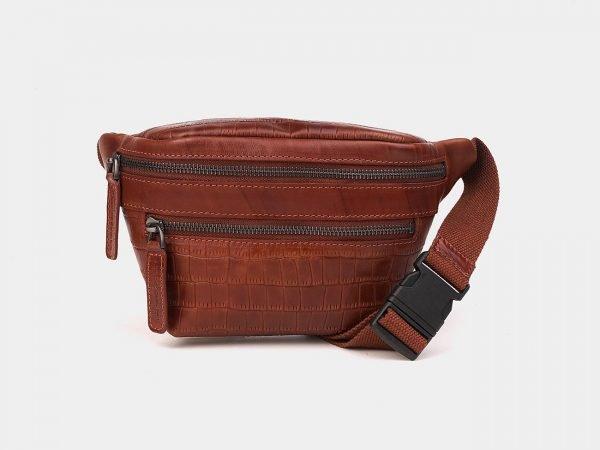 Уникальная светло-коричневая женская сумка на пояс ATS-3572