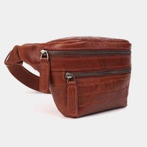 Уникальная светло-коричневая женская сумка на пояс ATS-3572 212020