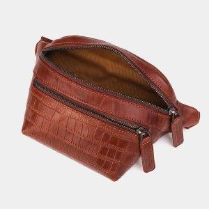 Уникальная светло-коричневая женская сумка на пояс ATS-3572 212022