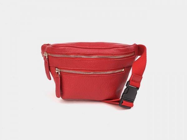 Стильная красная женская сумка на пояс ATS-3573