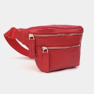 Стильная красная женская сумка на пояс ATS-3573 212015