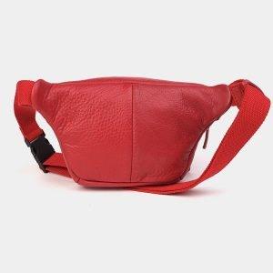 Стильная красная женская сумка на пояс ATS-3573 212016