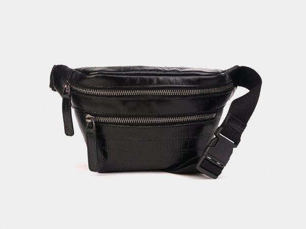 Стильная черная женская сумка на пояс ATS-3574