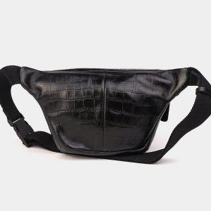 Стильная черная женская сумка на пояс ATS-3574 212011