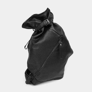 Деловой черный рюкзак кожаный ATS-3577