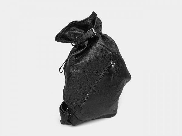 Модный черный рюкзак кожаный ATS-3577
