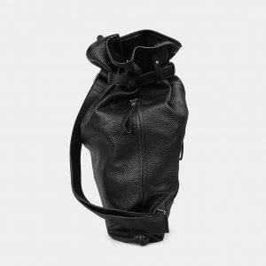 Модный черный рюкзак кожаный ATS-3577 211989
