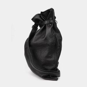 Модный черный рюкзак кожаный ATS-3577 211990