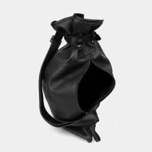 Модный черный рюкзак кожаный ATS-3577 211991