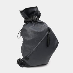 Деловой серый рюкзак кожаный ATS-3579