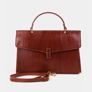 Удобная светло-коричневая женская сумка ATS-3582