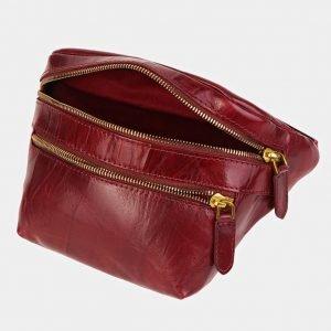 Удобная бордовая женская сумка на пояс ATS-3588