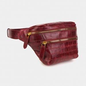Деловая бордовая женская сумка на пояс ATS-3589 211930