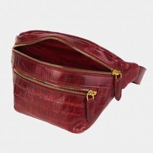Деловая бордовая женская сумка на пояс ATS-3589 211932