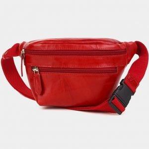 Неповторимая красная женская сумка на пояс ATS-3591