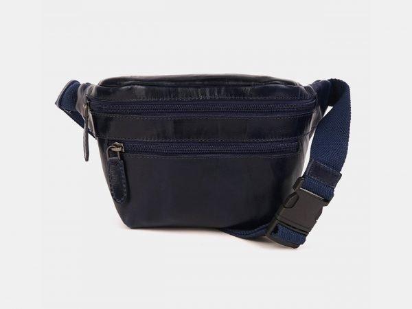 Модная синяя женская сумка на пояс ATS-3593
