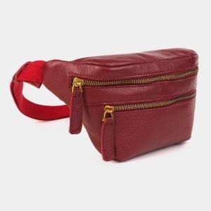 Удобная бордовая женская сумка на пояс ATS-3590 211925