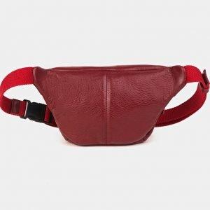 Удобная бордовая женская сумка на пояс ATS-3590 211926