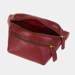 Удобная бордовая женская сумка на пояс ATS-3590 211927