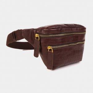 Модная коричневая женская сумка на пояс ATS-3594 211905