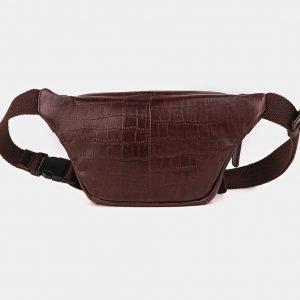 Модная коричневая женская сумка на пояс ATS-3594 211906