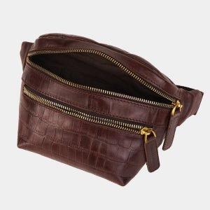 Модная коричневая женская сумка на пояс ATS-3594 211907