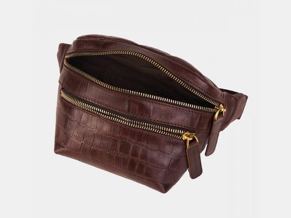Уникальная коричневая женская сумка на пояс ATS-3594