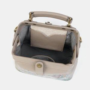 Уникальная бежевая сумка с росписью ATS-3607 211853
