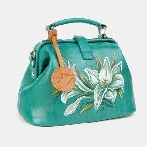 Модная зеленая сумка с росписью ATS-3601 211881