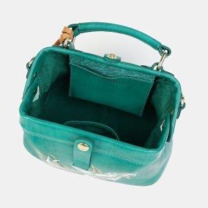 Модная зеленая сумка с росписью ATS-3601 211883