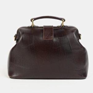 Вместительная коричневая сумка с росписью ATS-3580 211976