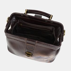 Вместительная коричневая сумка с росписью ATS-3580 211977