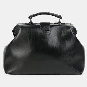 Удобная черная сумка с росписью ATS-3602 211877
