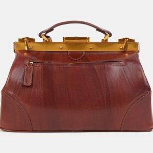 Кожаный светло-коричневый саквояж с росписью ATS-3604 211867