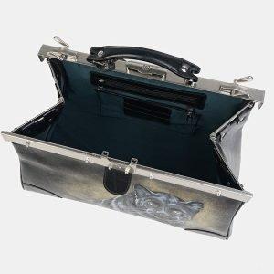 Функциональный черный саквояж с росписью ATS-3605 211863