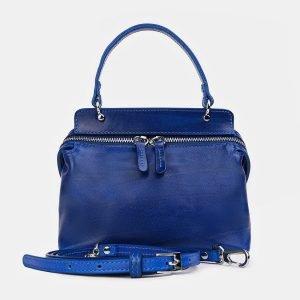 Солидный голубовато-синий женский клатч ATS-3418