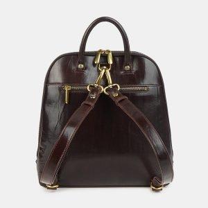 Неповторимый коричневый рюкзак с росписью ATS-3606 211858